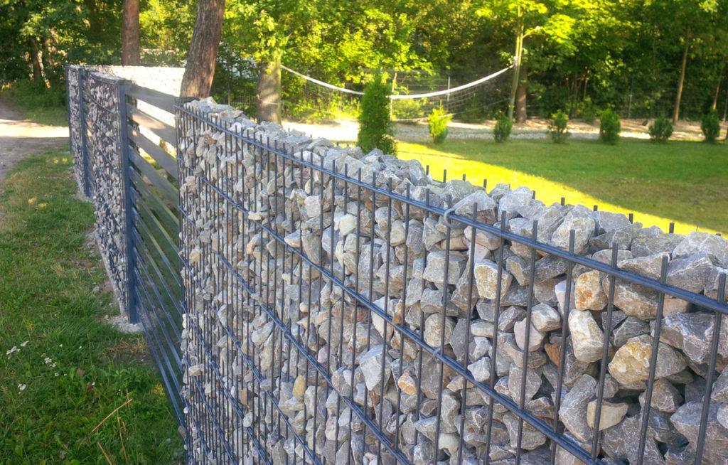 ogrodzenie z gabionu